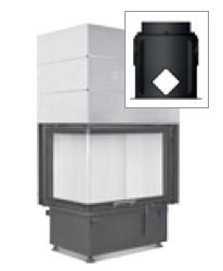 Hoxter ECKA 67/45/51Lh со стальным теплообменником, левосторонняя, двойное стекло, подключение 90˚