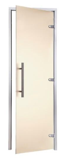 Двери для хаммама Greus Premium 800х2000 бронза
