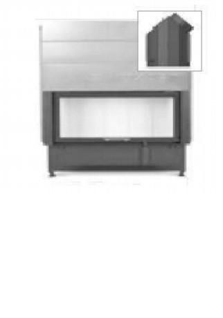 Hoxter HAKA 89/45 вертикальное открывание,со стальным теплообменником, двойное стекло