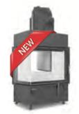 Hoxter ECKA 67/45/51a внешний розжиг,со стальным теплообменником, двойное стекло,подключение 45º