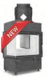 Hoxter ECKA 67/45/51a внешний розжиг,со стальным теплообменником, двойное стекло,подключение 90º