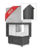 Hoxter ECKA 76/45/57ha внешний розжиг,стальной теплообменник, двойное стекло,подключение 45º