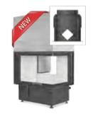 Hoxter ECKA 76/45/57ha внешний розжиг,стальной теплообменник, двойное стекло,подключение 90º