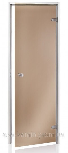 Двери для хаммама Saunax 700х1900 бронза