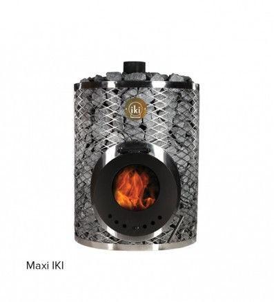 Дровяная каменка Maxi-IKI со стеклянной дверцей