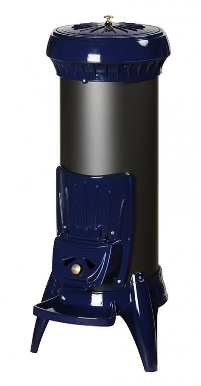 Печь-камин SOREL Invicta голубая эмаль