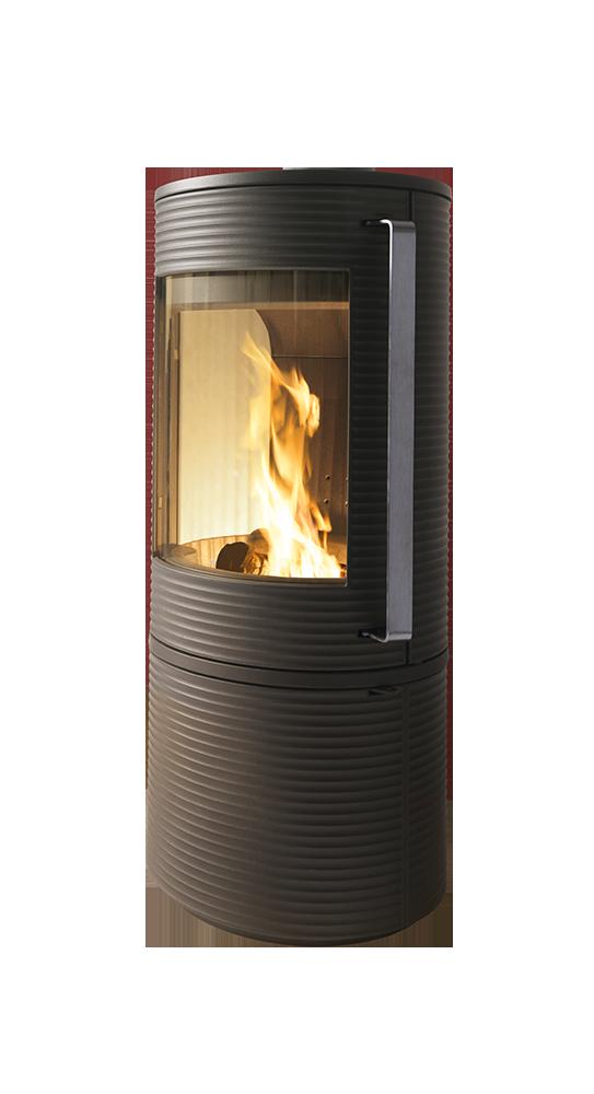 Печь-камин ALTARA-(огнеупорная бетонная футеровка,ручка нержавеющая) Invicta