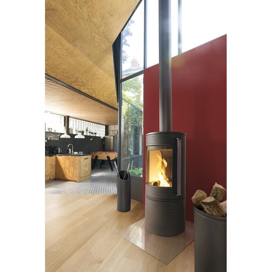Печь-камин ALTARA (огнеупорная бетонная футеровка, ручка нержавеющая) Invicta