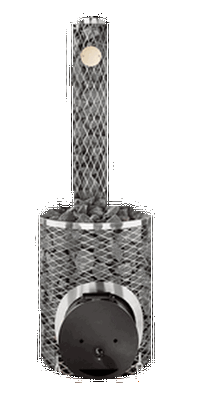 """Дровяная каменка Maxi-IKI Plus со стальной дверцей """"смайл"""""""