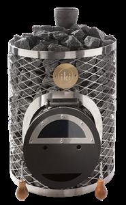 """Дровяная каменка Mini-IKI со стальной дверцей """"смайл"""""""
