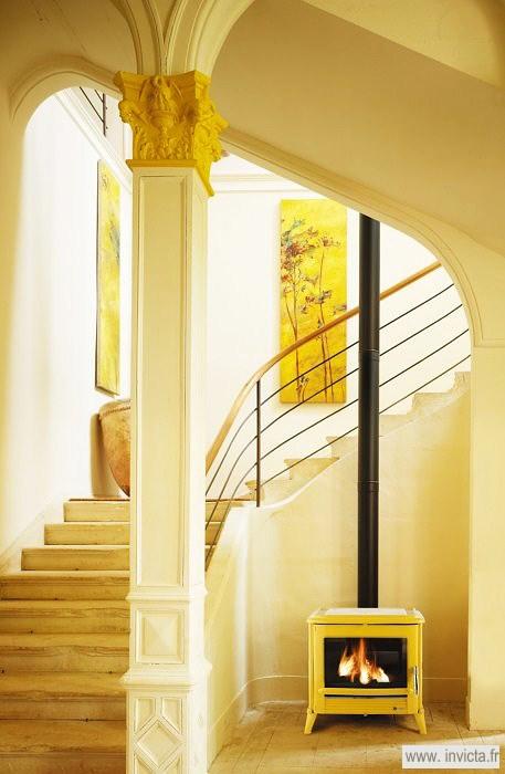 Печь-камин MODENA желтая эмаль Invicta