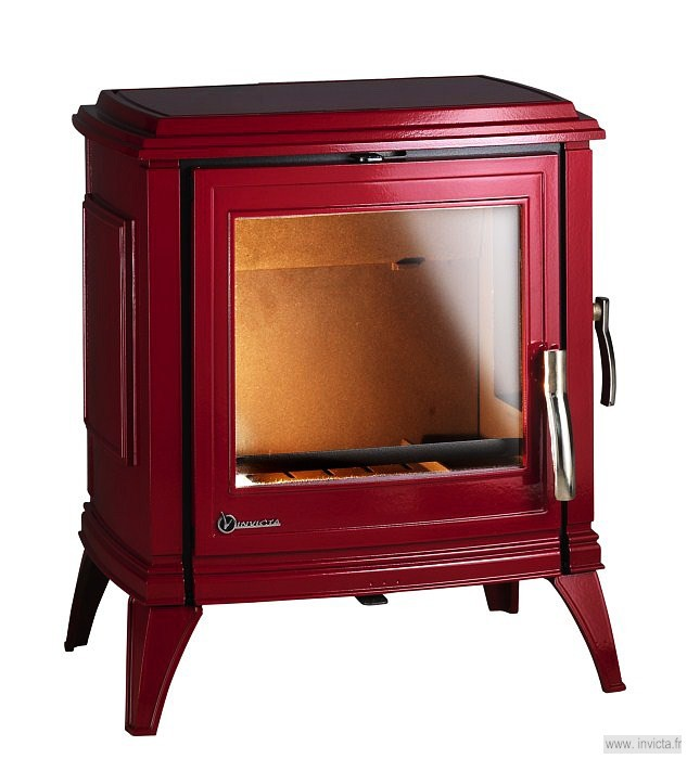 Печь-камин SEDAN M красная эмаль Invicta