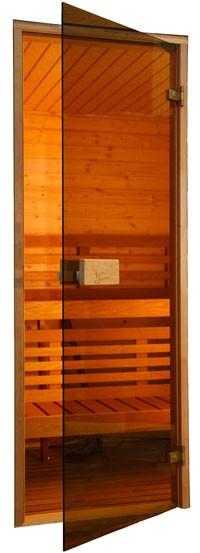 Двери для саун Saunax 700х1900 бронза