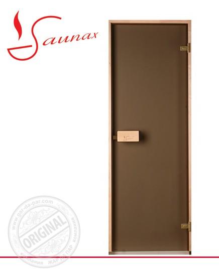 Двери для саун Saunax 700х1900 бронза матовая