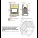INVICTA 700 Selenic с шибером размер инсталяции