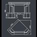 Мраморный камин Порто размер